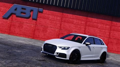 Audi Rs3 Mods by Audi Rs3 Sportback 2018 Add On Tuning Abt Gta5 Mods