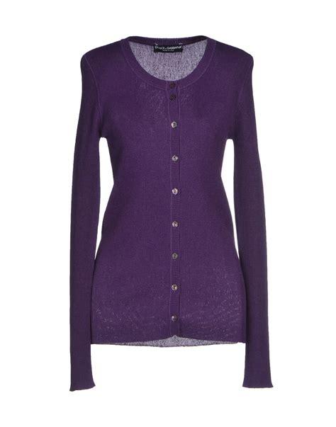 Purple Cardigan dolce gabbana cardigan in purple purple lyst