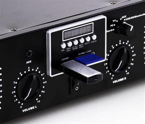 Kit Power Karaoke Mp3 Subwoofer Dms 1500 Bluetooth bluestream 2 0 pa power lifier usb sd aux 3000 w 4 ohm led light ebay
