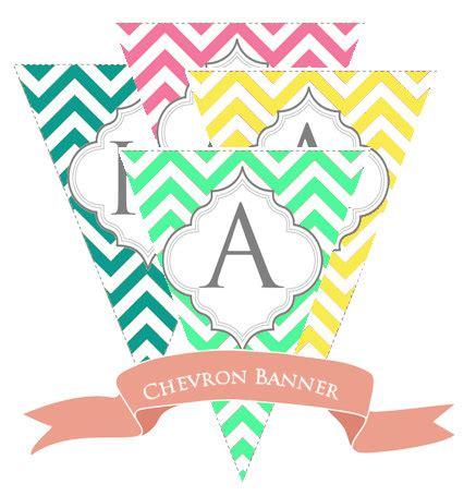 printable chevron banner free printable pennant banner chevron