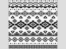 Ethnic seamless pattern. Aztec black-white background ... Tribal Print Pattern Black And White