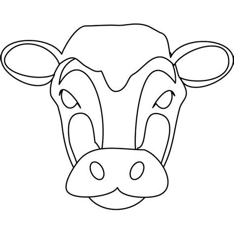 fil a cow mask template m 225 scaras de animales para ni 241 os