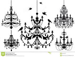 6 Light Crystal Chandelier Chandelier Set Vector Stock Photography Image 26448172