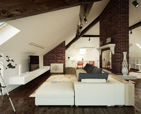 wohnzimmer unterm dach wohnzimmer einrichten gem 252 tlich unter dachschr 228 ge dach