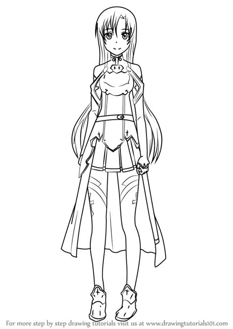 Trace Drawing Online Learn How To Draw Asuna From Sword Art Online Sword Art