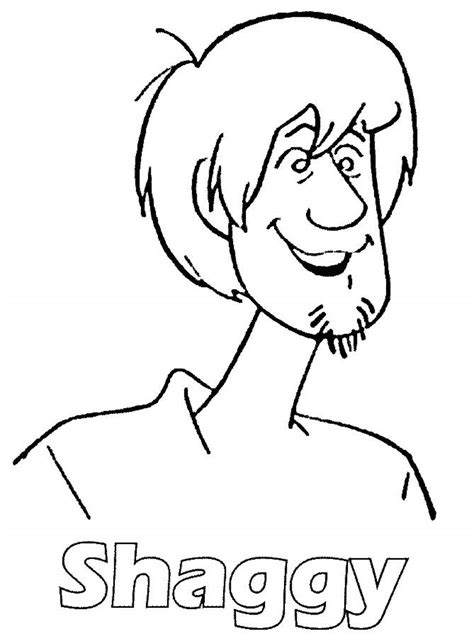 Shaggy Coloring Page scooby doo and shaggy coloring coloring pages
