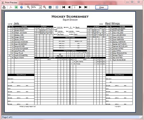 hockey score sheet hockey score sheets images search