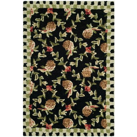 1 X 2 Ft Rug by Safavieh Chelsea Black Ivory 1 Ft 8 In X 2 Ft 6 In