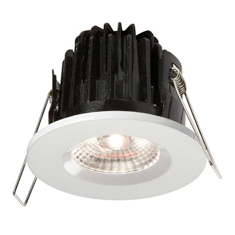 Luxmenn Downlight 7w White knightsbridge 7w led fireknight ip65 downlight