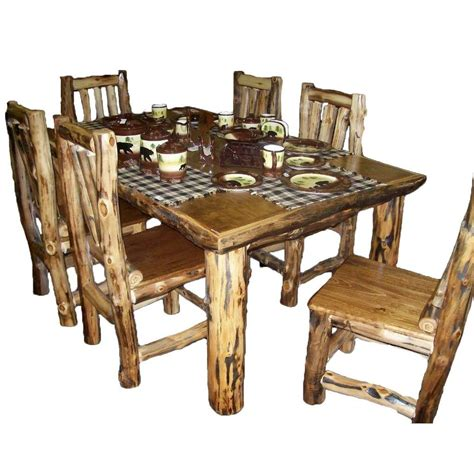 country kitchen table sets rustic kitchen table set country western log cabin wood furniture decor ebay