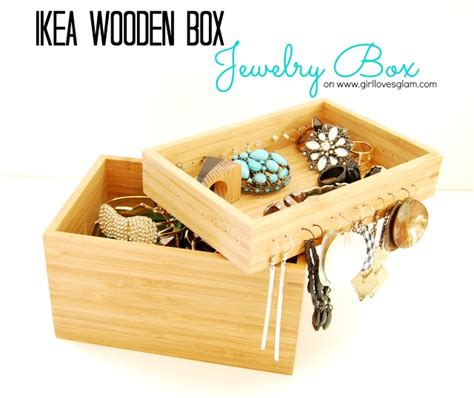 ikea wooden boxes three ways glam