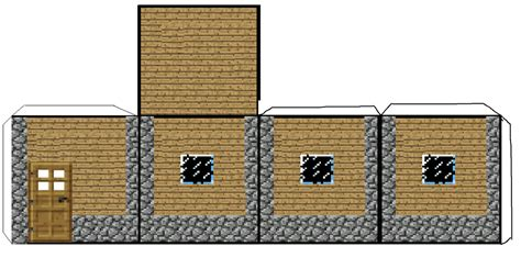 minecraft house pixel papercraft auto design tech