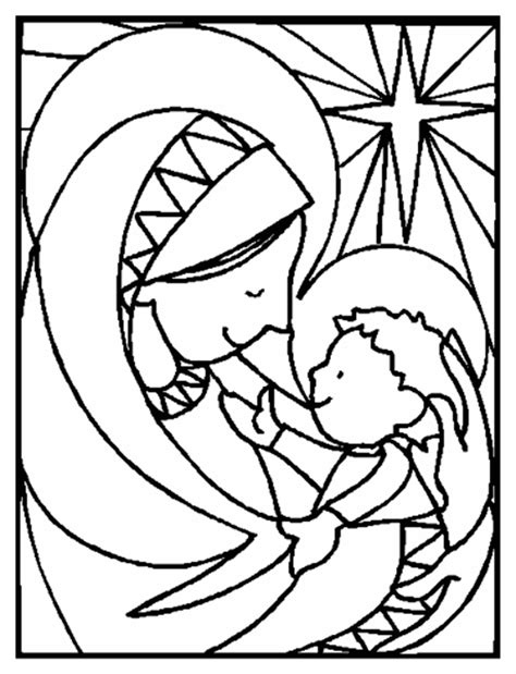 nativity mary coloring page nativity coloring pages