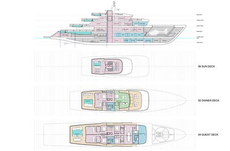 mega yacht layout 78m mega yacht concept by impossible productions ink