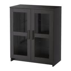 Black Cabinets With Glass Doors Brimnes Cabinet With Doors Glass Black Ikea