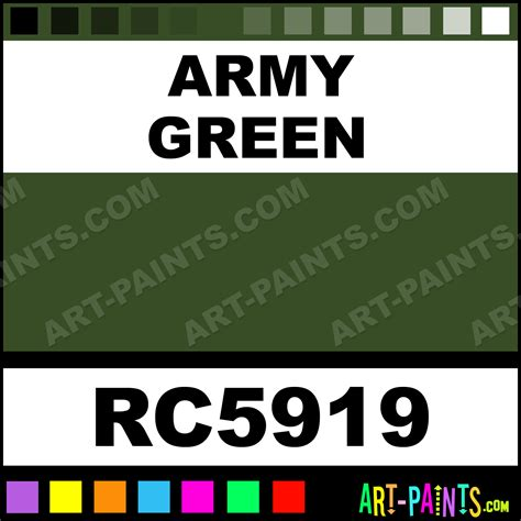 army green model metal paints and metallic paints rc5919