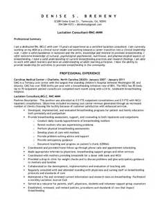 Lactation Consultant Cover Letter by Resume 2010