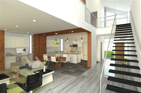 loft house design house plans with loft design perspective presentation