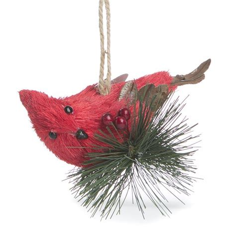 sisal cardinal ornament christmas ornaments christmas