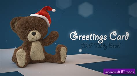 videohive christmas teddy bear    effects templates  effects intro
