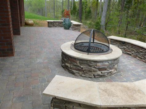 Patio And Firepit Pit Archadeck Of