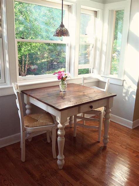 petite white harvest farm table  drawer
