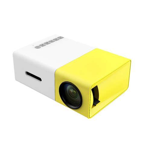 Projector Mini Glitz Jual Glitz Yg300 Lcd Mini Portable Led Projector Putih