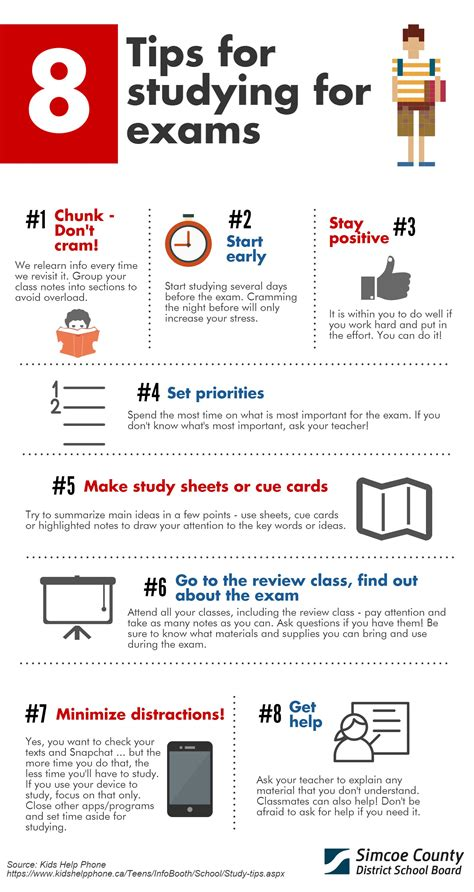 8 Tips For A by 8 Tips For Studying For Exams Simcoe