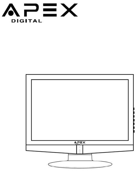 apex digital flat panel television ld1919 user guide