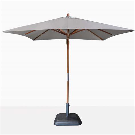 Grey Patio Umbrella Dixon Market Olefin Square Umbrella Grey Teak Warehouse