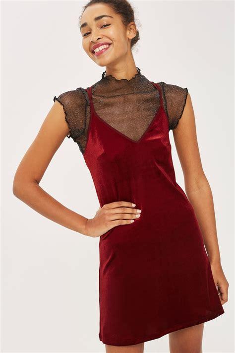 Velvet Slip Dress velvet slip dress clothing topshop