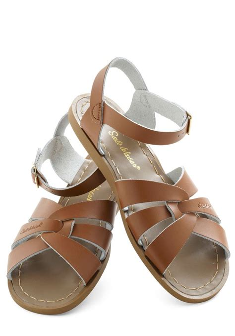 brown saltwater sandals outer bank on it sandal in brown