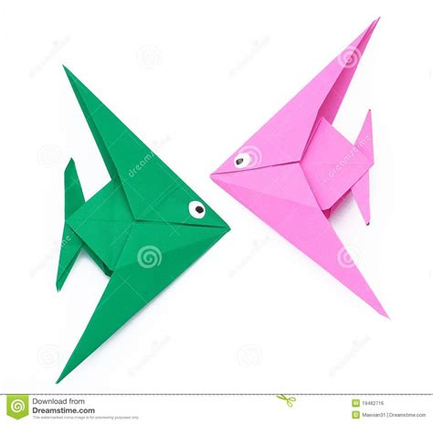 origami paper fish royalty free stock image image 19462716