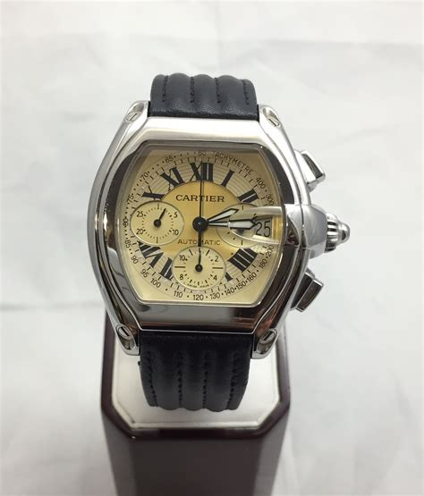 unique cartier roadster xl steel automatic mens w