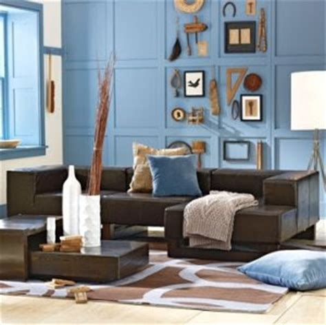blue and brown walls blue decorating with paint completely coastal