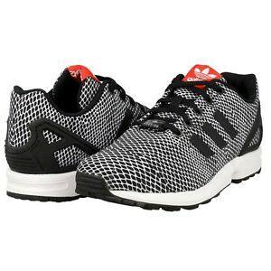 adidas torsion zx flux s82615 black white running s shoes size 7 ebay