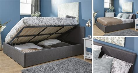 4ft Ottoman Storage Bed Silver Side Lift Ottoman Storage Bed Quality Fabric Gas Lift 3ft 4ft 4ft6 5ft Ebay