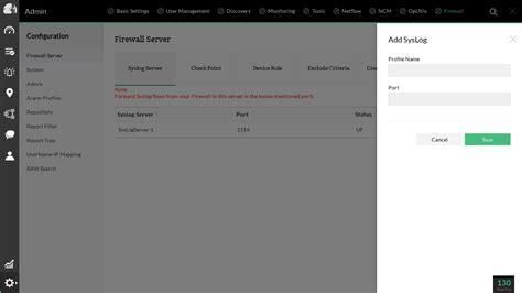 syslog server port firewall log management monitor and analyze firewall logs