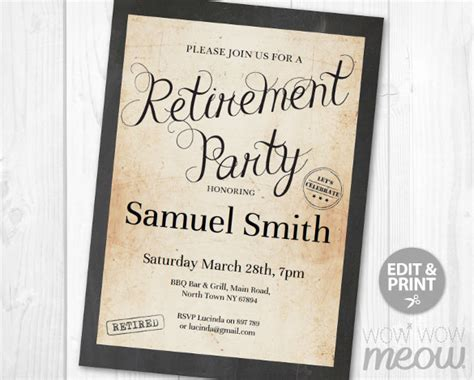 retirement party flyer template 11 download documents