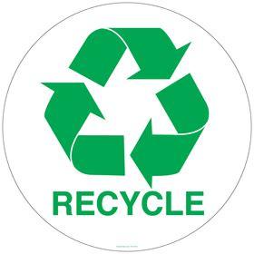 circle recycling symbol sticker
