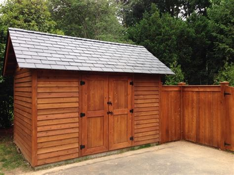 cedar shed and fence craftsman shed other metro by