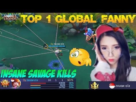 tutorial fanny mobile legend learning from top 1 global fanny insane savage kill