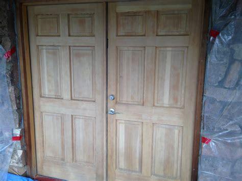 Wood Door Refinishing by Log Home Restoration Colorado
