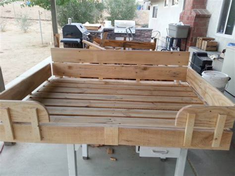 dog bed made out of pallets pallet dog bed tutorial 101 pallet ideas