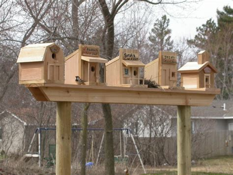 bird houses cool idea maybe my fence line will work for this gardening out side idea s