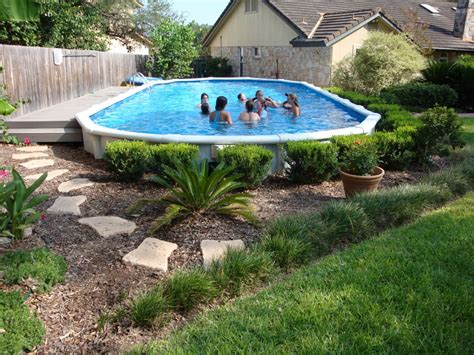 landscaping around pools landscaping around your above ground pool