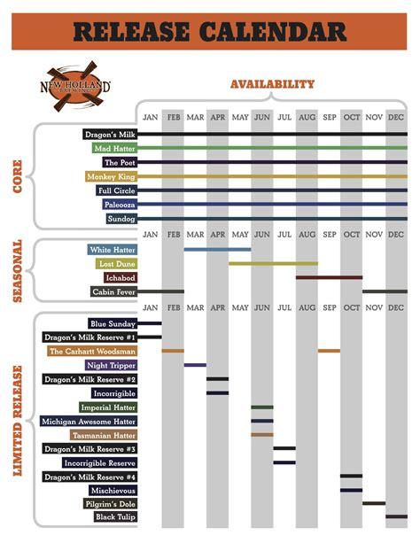 Release Calendar 2016 New Brewing Release Calendar
