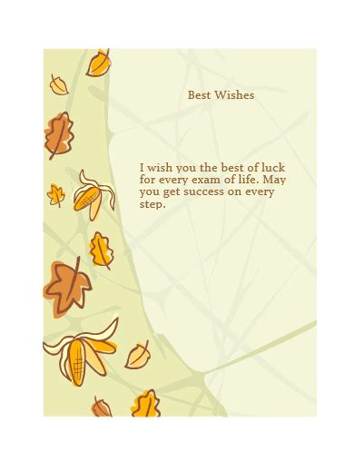 Best Wishes Card Template by Card Templates Free Word Templates
