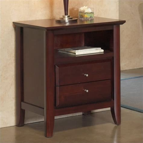 nightstand with charging station modus city ii charging station two drawer nightstand in