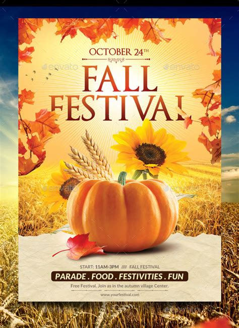 fall flyer template fall flyer template 20 in vector eps psd